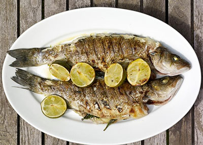 Grilled Branzino with Basil, Lime and Ginger